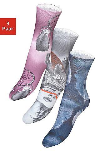 Носки (3 пар) с marokkanischem Grafikd...