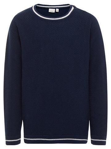 Длинными рукавами трикотажный пуловер