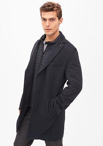 Зауженные Gemusterter пальто шерстяное...