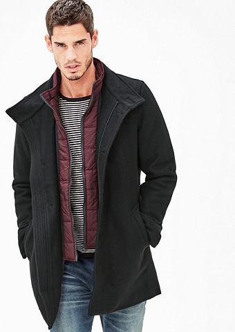 Wattierter пальто шерстяное с Insert