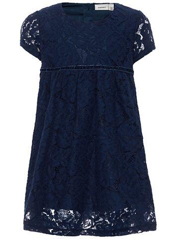 Kurzarm-Spitzen платье