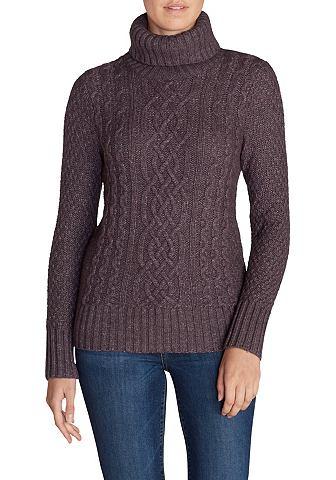 Cable Fable пуловер с воротник-гольф