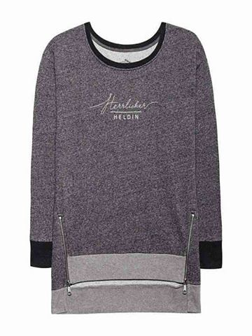 Sweat-Pullover в melierter имитация с ...