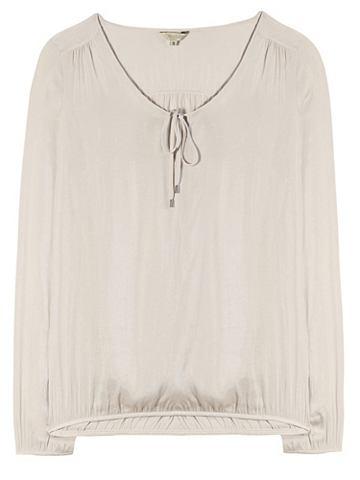 Блузка из сатина с Schlitzdekollet&eac...