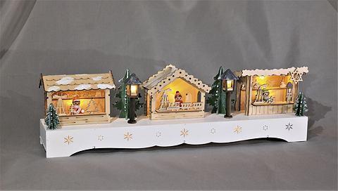 Освещенный Weihnachtsmarkt