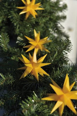 Kunststoff-Sternenkette с 9 Sternen 18...
