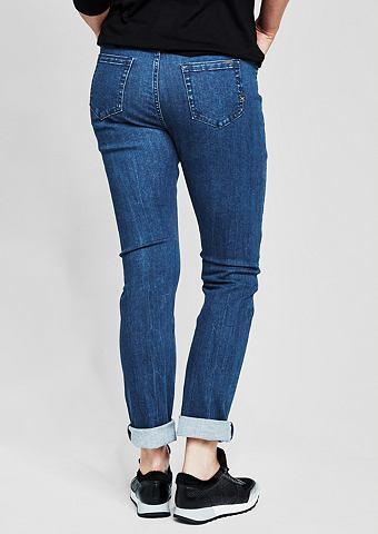 Curvy Зауженные джинсы стрейч с имитац...