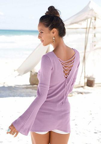 Пуловер с красивый Rücken