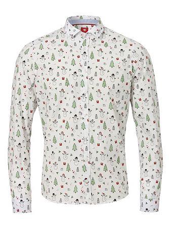 Узкий форма рубашка с weihnachtlichem ...
