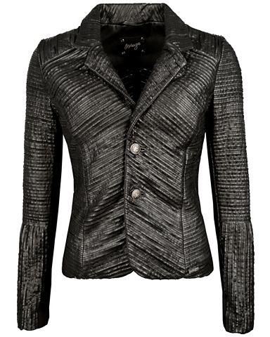 Пиджак кожаный из Premium-Stretch кожа...