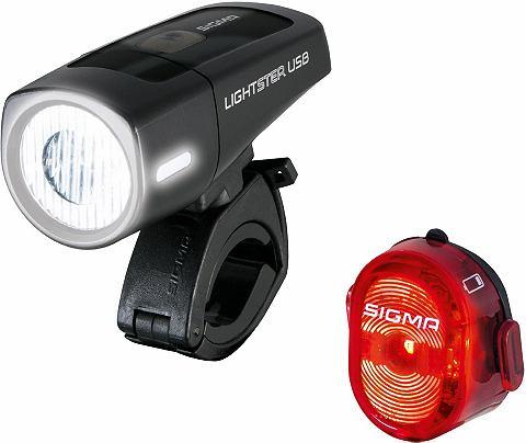 Комплект: велосипедная лампа черно/кра...