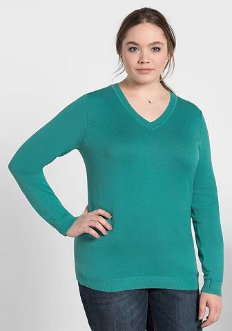 SHEEGO BASIC Sheego пуловер с V-образным вырезом