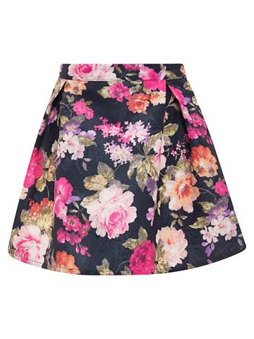 Цветочным узором юбка