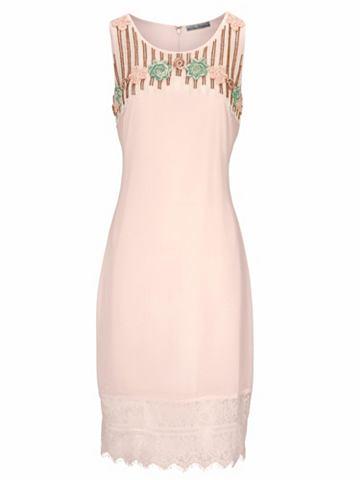 Коктейльное платье с окантовка и круже...