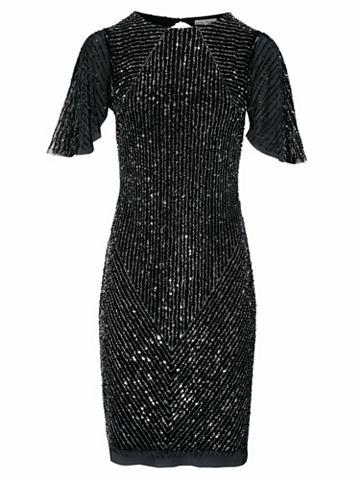 Коктейльное платье с вырез