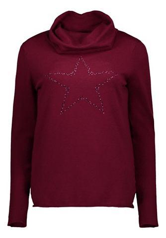 Пуловер трикотажный с украшением