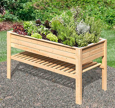 KARIBU Ящик для растений BxTxH: 168x84x91 cm ...