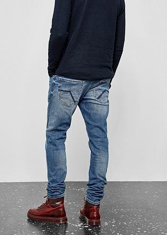 Gavin Skinny: джинсы с имитация тертый...