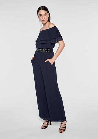 Off Shoulder-Jumpsuit с Rüsche