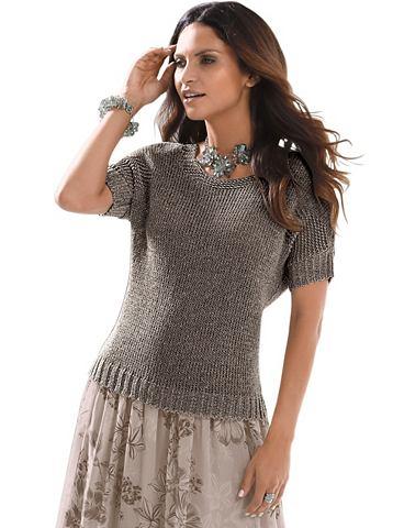 Легко блестящий пуловер