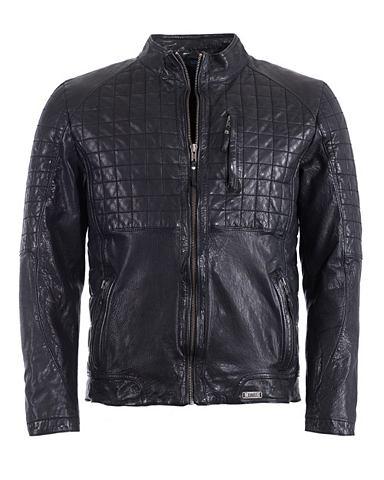Куртка кожаная с воротник стойка &raqu...