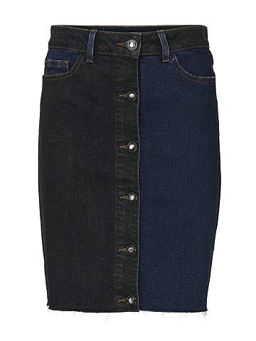 Юбка джинсовая с пуговицы durchgehend