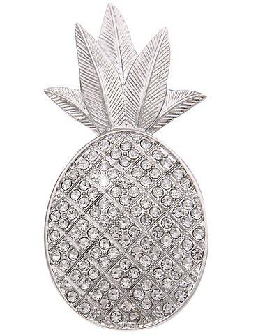 Magnet-Anstecker с glitzernder Ananas