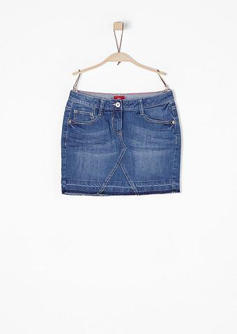 Kurzer юбка джинсовая в Used-Look для ...