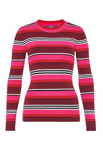 Пуловер в полоску из Feinstrick