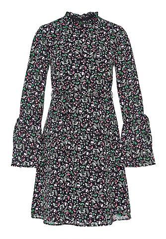 Мини-платье с цветной рисунок & Vo...
