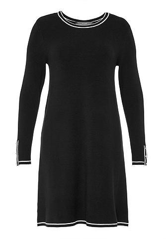 Платье трикотажное с Kontrastblenden