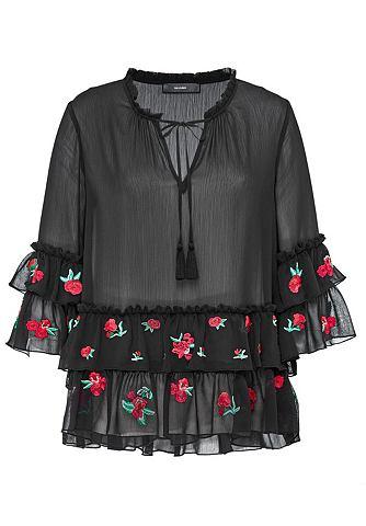 Блузка с rosenbestickten c воланами