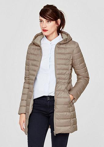 Нежный Куртка стеганая с капюшон