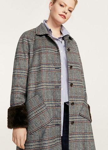 Клетчатый пальто из Woll-Mix
