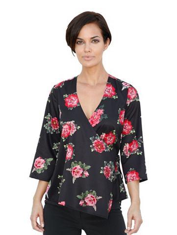 Блузка с запахом с цветочный узор
