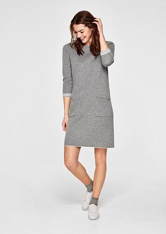 Платье трикотажное с Kontrasten