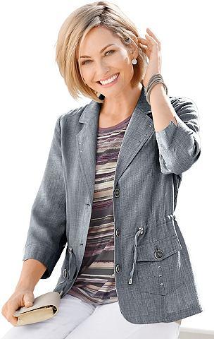 Пиджак-рубашка в имитация льна