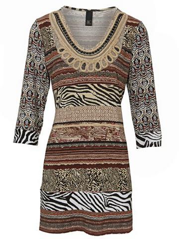 Туника-рубашка с сочетание узоров
