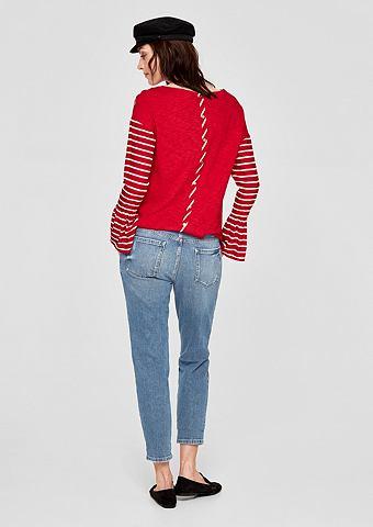 Girlfriend Укороченные Flower-Jeans