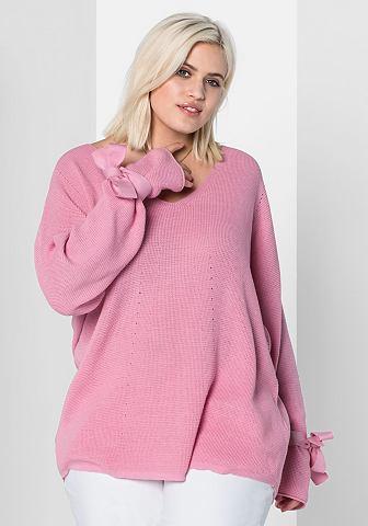 Пуловер длинный