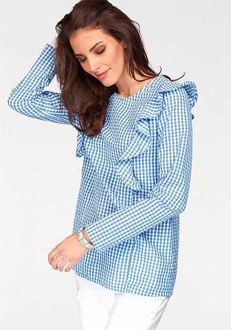 Блузка на выпуск с оборка verziert