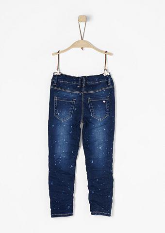 Treggings: брюки с Bleaching-Effekt дл...