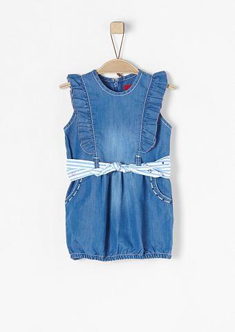 Короткое платье джинсовое с ремень для...
