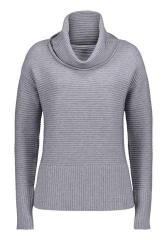 Трикотажный пуловер с Широкий ворот