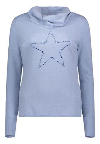 Трикотажный пуловер с украшением