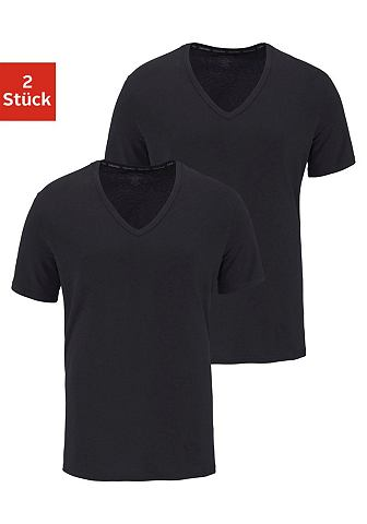 Calvin KLEIN футболка с V-образным выр...