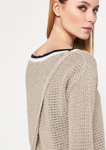 Трикотажный пуловер с eingearbeiteten ...