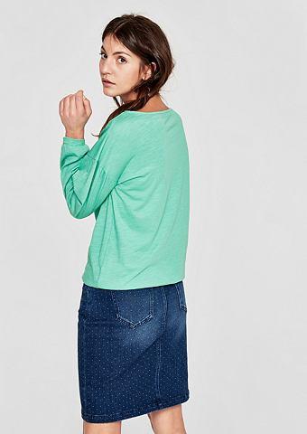 Юбка джинсовая с имитация тертый ткани...