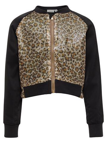 Leopardenmuster с пайетками куртка кур...