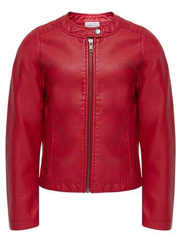 NAME IT Байкер-стиль куртка из искусственной к...